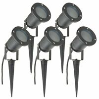 GU10 Outdoor Garden Spike Ground Mount Or Watt Light IP65 Matt Black Pack Of 5