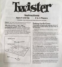 Original TWISTER GAME REPLACEMENT PIECE Instructions