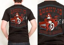 Authentic Lucky 13 Little Red Truck Pinup Girl Hot Rod Punk Tattoo T Shirt S