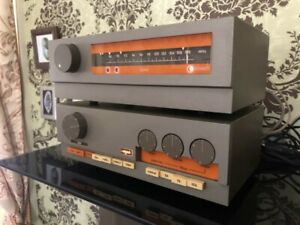 QUAD 33 PRE-AMP, 303 POWER AMP AND FM 3 TUNER WITH MANUALS AND LEADS