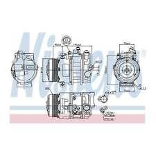 Fits Mercedes GLK-Class X204 220 CDi Genuine Nissens A/C Air Con Compressor