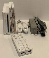 Nintendo Wii Console Bundle Gamecube Compatible RVL-001 Tested And Complete