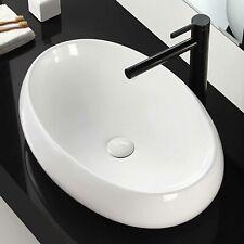 Aufsatzwaschbecken Keramik Waschbecken Nano Waschschale Oval weiß für Badezimmer