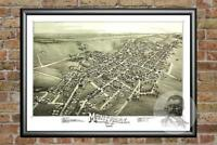 Old Map of Montrose, PA from 1890 - Vintage Pennsylvania Art, Historic Decor