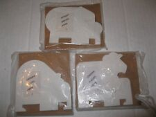 TUPPERWARE ~ SET OF 3 Magnetic Photo Frames ANIMALS Elephant Bear Lion NUZZLES