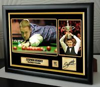 """Stephen Hendry World Champion Snooker Framed Canvas Print Signed.""""Great Gift"""""""