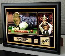 "Stephen Hendry World Champion Snooker Framed Canvas Print Signed.""Great Gift"""