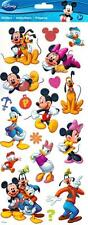 "18-pc Disney MICKEY and FRIENDS 13"" x 6"" Clear+ Glitter Stickers EK Success"