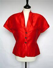GMV orange linen vintage top/jacket - UK 12