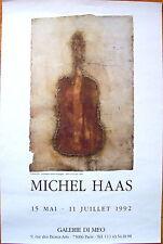 "Michel Haas   Original French Poster  Galerie DI Meo--Paris--1992 ""Violoncelle"""