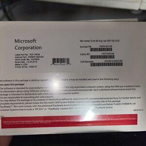 LS-12 Windows 10 Home 64 bit & Genuine Product 1pk DSP (New)