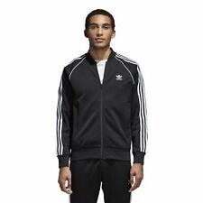 Para Hombre Adidas Sst Chaqueta de pista-Negro-CW1256