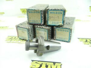 "LOT OF 5 NEW 3/4"" WELDON PRECISION SHELL MILL ARBORS 30 TAPER MODEL QSC-2"