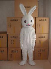 Special offer!New white Rabbit adult mascot costume fancy dress free shipping