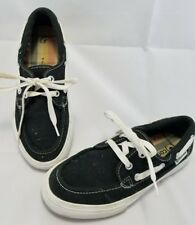 Converse Sea Star OX Mens Boat Shoe Trainers Black Lace Up 103204 Size 5
