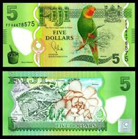 Fiji 5 Dollars Banknote, 2013, Polymer, P-New 115, UNC, Oceania Paper Money