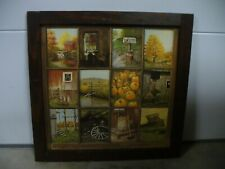 B. Mitchell window pane fall pictures rustic frame Home Interiors