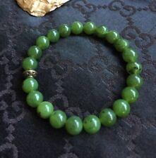 8.5mm Nephrite Jade Bracelet, 100% Natural Untreated Genuine Canadian Nephrite