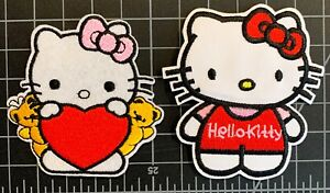 Hello Kitty Embroidered Iron On Patches