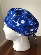 Baseball Men's Surgical Scrub Hat - Skull Cap
