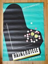 original Plakat, Hans Fabigan, Rainer Diele Wien- Wieden, Piller Druck Wien