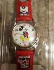 13b3f0ee30e1 Walt Disney Mickey Mouse Watch Red Band Time Works New