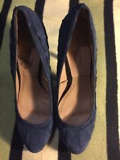 Zara Womens Blue Suede Shoes, Size 7. Good Condition