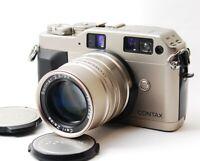 NEAR MINT CONTAX G1 Rangefinder camera w/ Carl Zeiss Sonnar 90mm f/2.8G Lens F/S