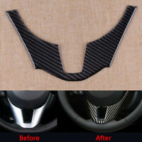 Carbon Fiber Style Steering Wheel Cover Trim Fit for Mazda 3 Axela 2014-2016 Acc