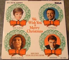 """45 RPM By Julie Andrews, etal, """"We Wish You A Merry Christmas"""" on Rca Victor"""
