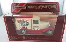 MATCHBOX MODELS OF YESTERYEAR Y-22 1930 MODEL A FORD VAN. WALTERS PALM TOFFEE
