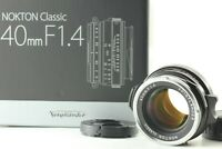 [Unused in Box] Voigtlander Nokton Classic 40mm f/1.4 MC From JAPAN