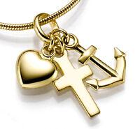 ECHT GOLD ***  Kleiner Anhänger Glaube-Liebe-Hoffnung