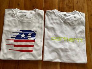 2x Carhartt T-Shirt  Gr. XXL Baumwolle 1x Gewaschen Nie Getragen Top