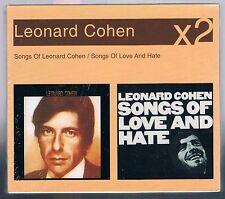 LEONARD COHEN SONGS / SONGS OF LOVE AND HATE BOX 2 CD SIGILLATO!!!!