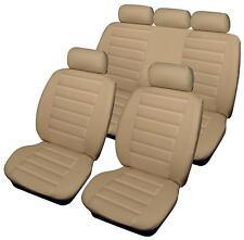 Hyundai Santa Fe  - Full Set of Luxury BEIGE Leather Look Car Seat Covers