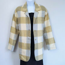 Vtg 80s 90s Anne Klein Plaid Oversized Checked Blazer Jacket Lucite Buttons? S