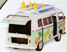 VW T2 Bulli Surfer mit Surfbrettern Stickern 1:14 Sammler Van Dickie Toys