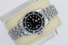 Tag Heuer 929.208 WD1410.BA0614 Black 1500 Professional SS Watch Womens Silver