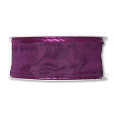 Dark Purple Fabric Ribbon 1.5 Inch Wide Full 27yd Roll Taffeta Satin