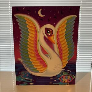 Lisa Frank Swan Folder Portfolio 2001 Colorful Y2K Animal Blanca Bird