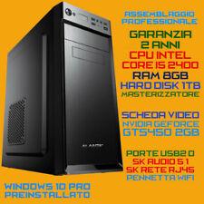 PC COMPUTER INTEL Core i5-2400 RAM 8GB HDD 1TB DVD-RW Scheda Video Dedicata 2GB