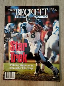 Beckett Football Card Monthly October 1996 Issue #79 Troy Aikman