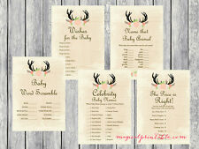 Print Yourself Rustic, Country Baby Shower Games TLC21