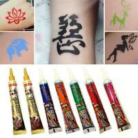 MultiColor Henna Mehandi Cones Temporary Tattoo+Mehandi Book & Stencils New