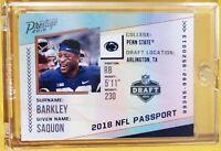 Saquon BARKLEY 🔥 NY GIANTS 🏈 2018 PANINI PRESTIGE PASSPORT * RC * ROOKIE CARD