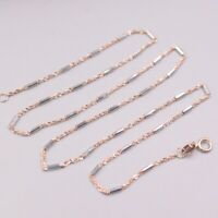 """Details about  /Au750 Pure 18K Rose Gold Necklace Woman/'s 0.8mmW O Link Perfect Chain 17.7/""""L"""