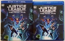 Dc Justice League Vs The Fatal Five Blu Ray Dvd 2 Disc Set + Slipcover Sleeve