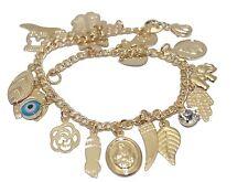 Lucky Charm Talisman 7 inch Bracelet 18K Gold Plated  Lucky Charm Bracelet