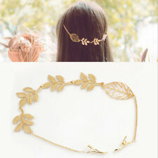 Women Girl Rhinestone Chain Headband Hair Band Leaf Hair Piece Jewelry Newly
